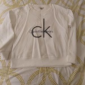 White Calvin Klein Sweatshirt